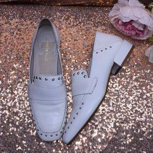 Kenneth Cole White Heeled Loafers 8M